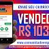 VENDEDORA PARA QUIOSQUE EM SHOPPING, 03 VAGAS COM SALÁRIO DE R$ 1033,92