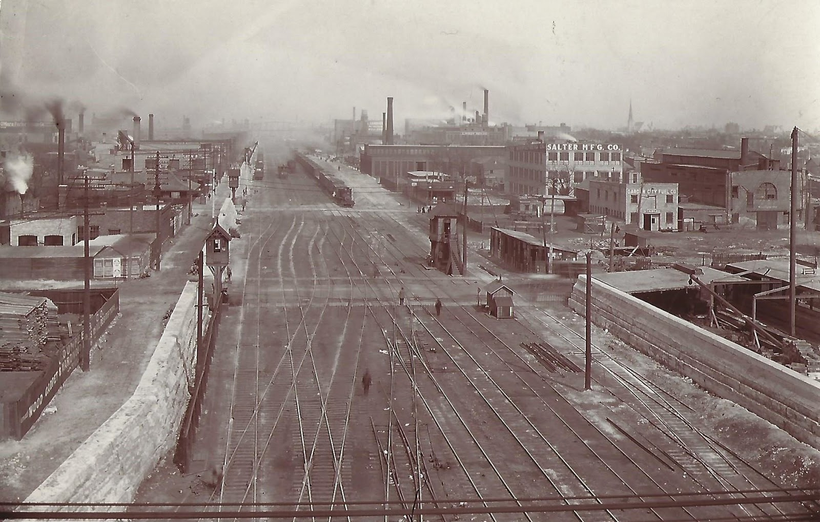 Industrial History Metra Tower A2 And Pennsys Red Eye Positional Electric Fan Conversion For Suburban Chicago North Western Historical Society Posted We Are In Looking East Along The Cnw West Line November 1905 When Railroad Is Working On
