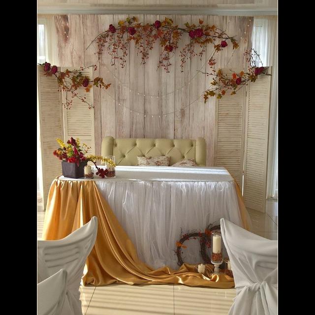 Пример оформления для осенней свадьбы