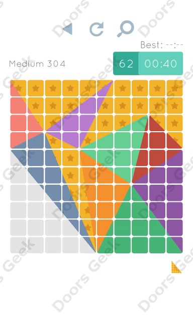 Cheats, Walkthrough for Blocks and Shapes Medium Level 304