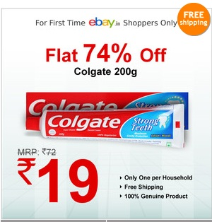 Buy Colgate Super Shakti Dental Cream 200g worth Rs.72 for Rs.19 Only (For Customers Who Never Purchased at Ebay)
