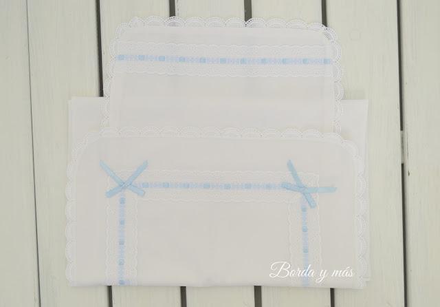 conjunto de sábanas carrito blanco celeste
