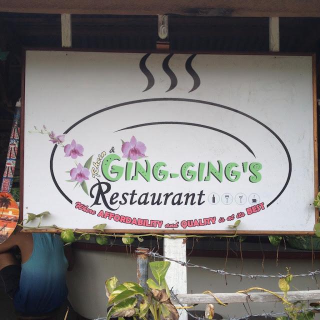Ging-ging's Restaurant in Malapascua Island Daanbantayan Cebu Philippines