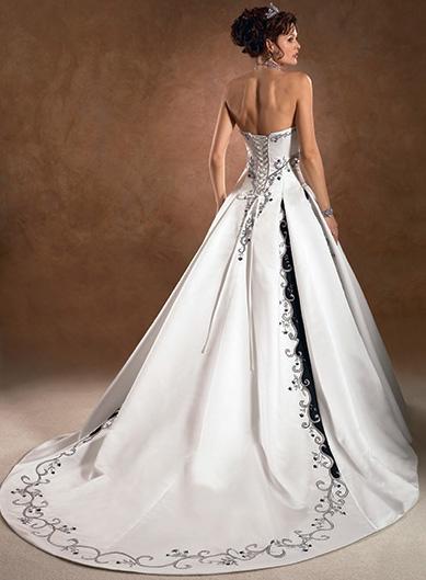 Sleek White Wedding Dress With Corset Back Behind  Wedding Dress