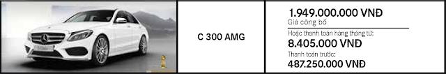 Giá xe Mercedes C300 AMG nhiều ưu đãi hấp dẫn