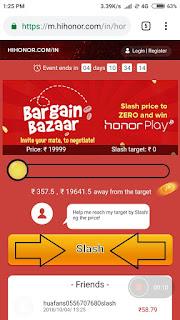honor price slash