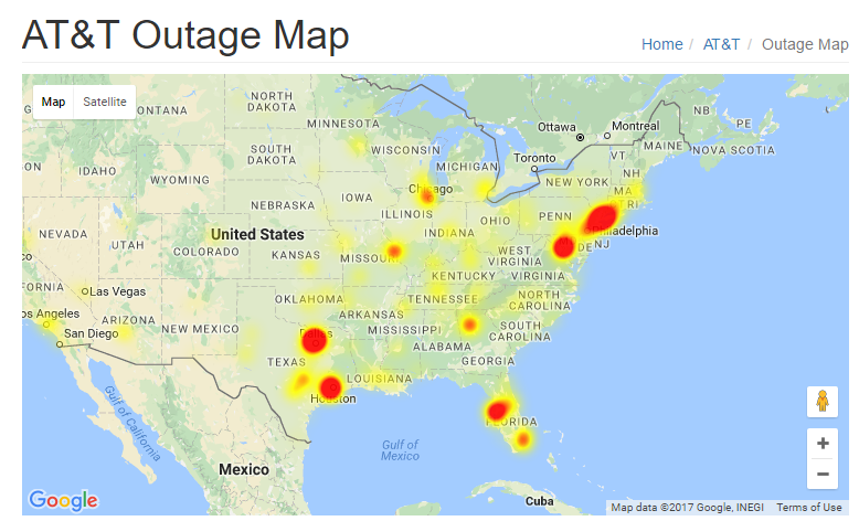 EmpopriseBI ATT Outage Not Affecting Ontario California Now - Att cell map