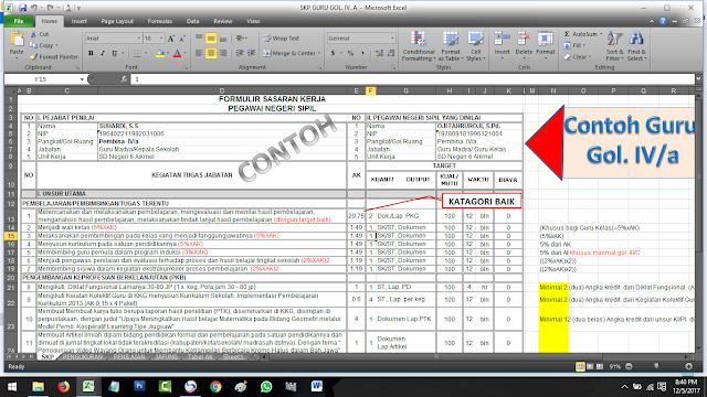 Download Lengkap SKP Bagi Guru PNS Golongan II, III dan IV