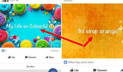 Cara Update status FB dengan background Foto