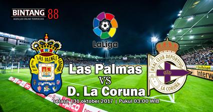 Prediksi Skor Las Palmas vs D. La Coruna 31 Oktober 2017