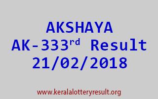 AKSHAYA Lottery AK 333 Results 21-02-2018