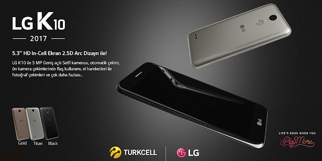 LG Electronics'in CES 2017'de tanıttığı yeni orta segment akıllı telefonu K10, Turkcell mağazalarında