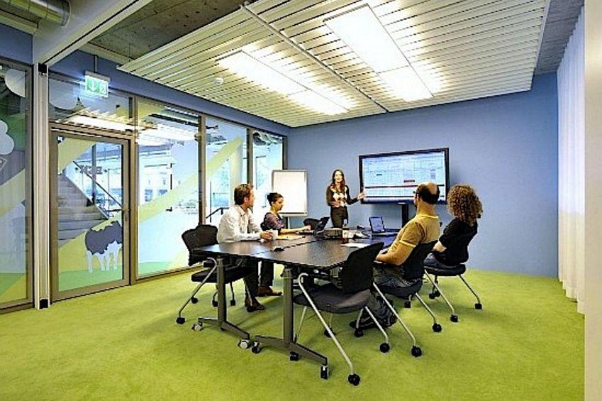 Contoh Denah Rumah Kantor  4 gambar warna cat interior kantor minimalis