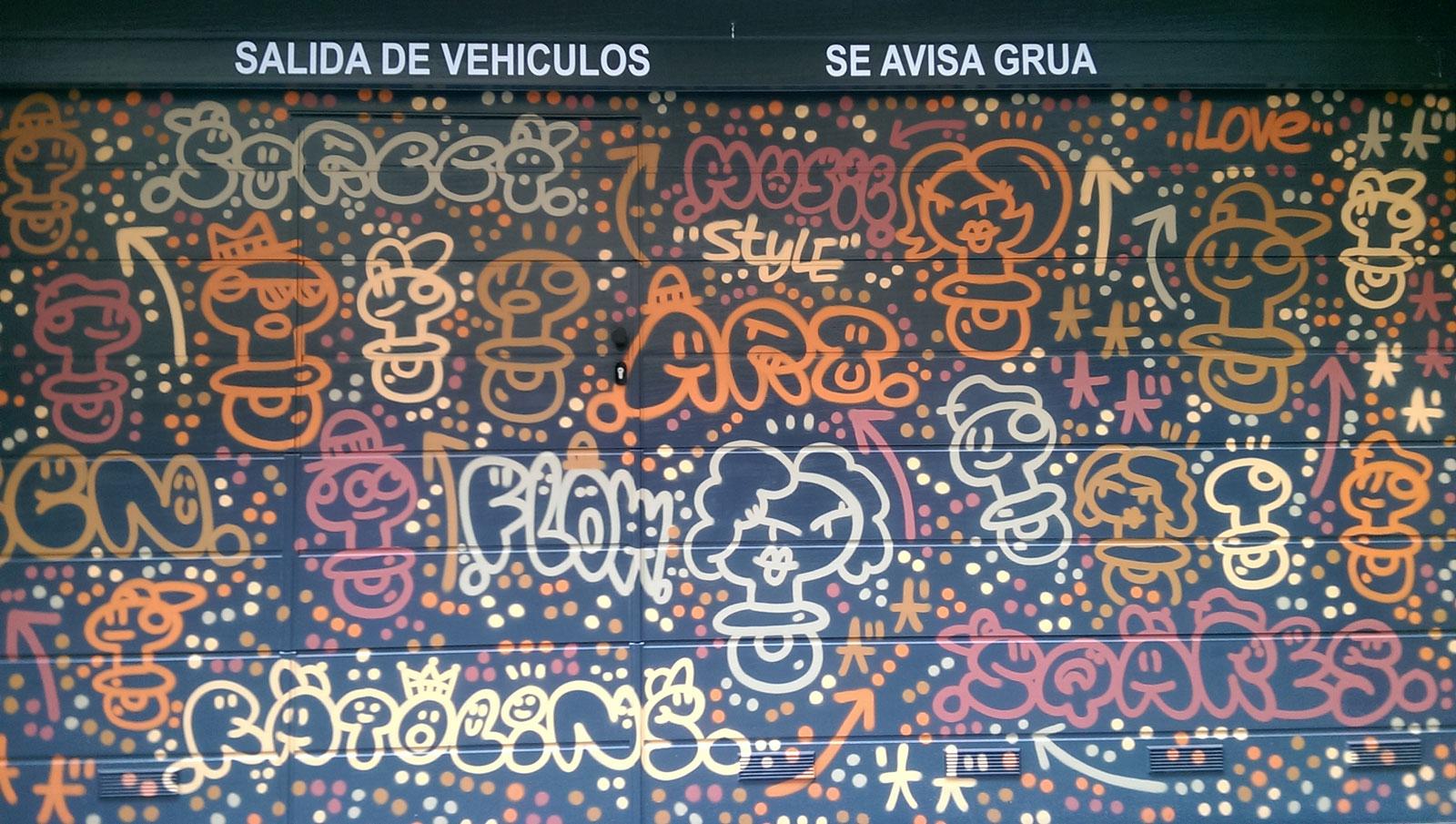 Gual per a cotxes, carrer Sant Eusebi, Barcelona, febrero 2017