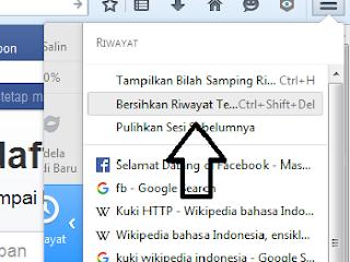 Menghapus riwayat browsing