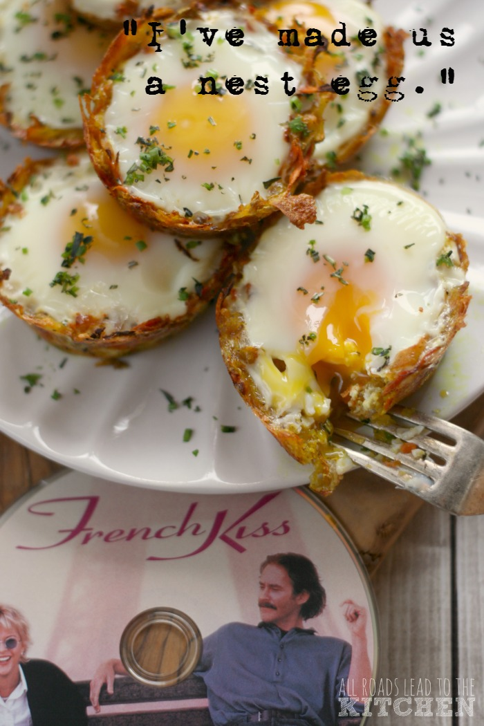 Nest Eggs (Eggs in Potato-Carrot Nests) inspired by French Kiss #FoodnFlix