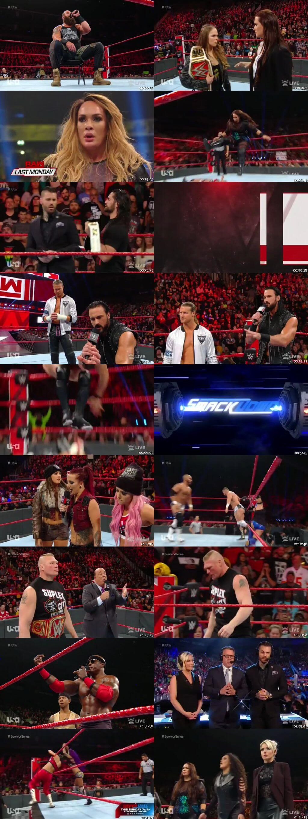 Screen Shot Of Wrestling TV Show WWE Monday Night Raw 12th November Watch Online Free Download