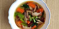 Resepi Sup Sayur Cendawan Dan Sawi