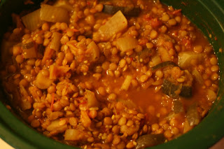 using preserved veg in Moroccan Lentil stew