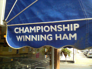 You can get Championship Winning Ham at a butchers in Needham Market, Suffolk