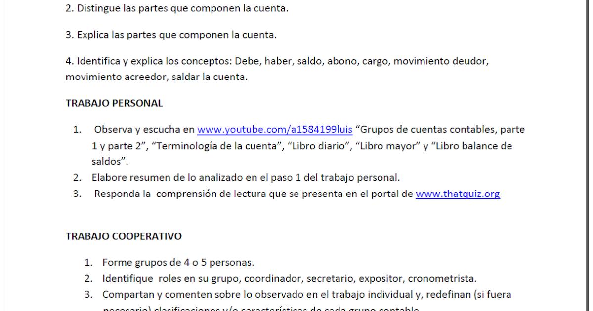 Luis González: Guía de trabajo 1, Contabilidad.