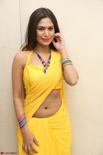 Nishigandha in Yellow backless Strapless Choli and Half Saree Spicy Pics 098.JPG