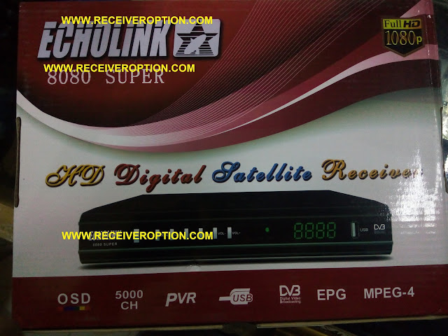 ECHOLINK 8080 SUPER HD RECEIVER AUTO ROLL POWERVU KEY SOFTWARE