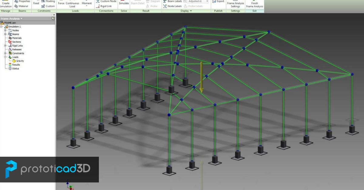 Análisis de Estructuras Metálicas con Inventor Simulation