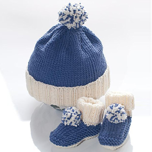 Baby bobble hat & booties - Free pattern