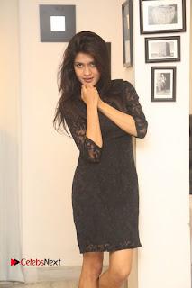 Actress Kimaya Phtoos in Black Short Dress at Kotha Kothaga Unnadi Press Meet 0004