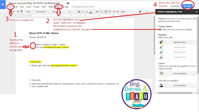 How to highlight/annotate online texts using Google Drive