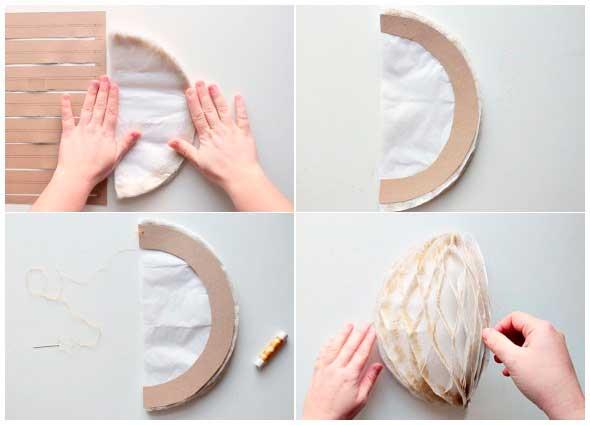 bolas nido, manualidades papel, origami, fiestas, decoración