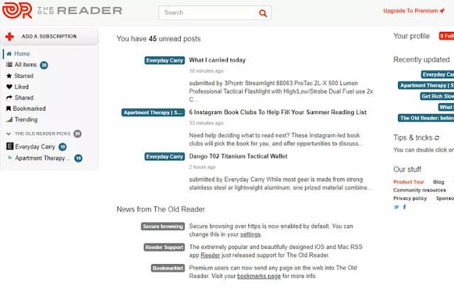 أفضل 6 مواقع لقراءة خلاصات RSS مجانا