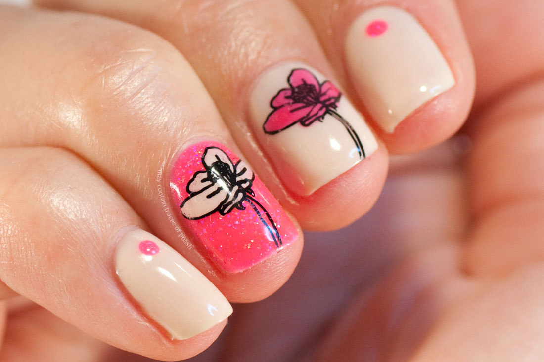 31 Day Challenge: Day 14, Flowers and Pink Gellac Paradise Pink