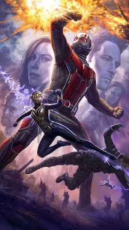 Poster Of Ant-Man and the Wasp In Dual Audio Hindi English 300MB Compressed Small Size Pc Movie Free Download Only At worldfree4u.com