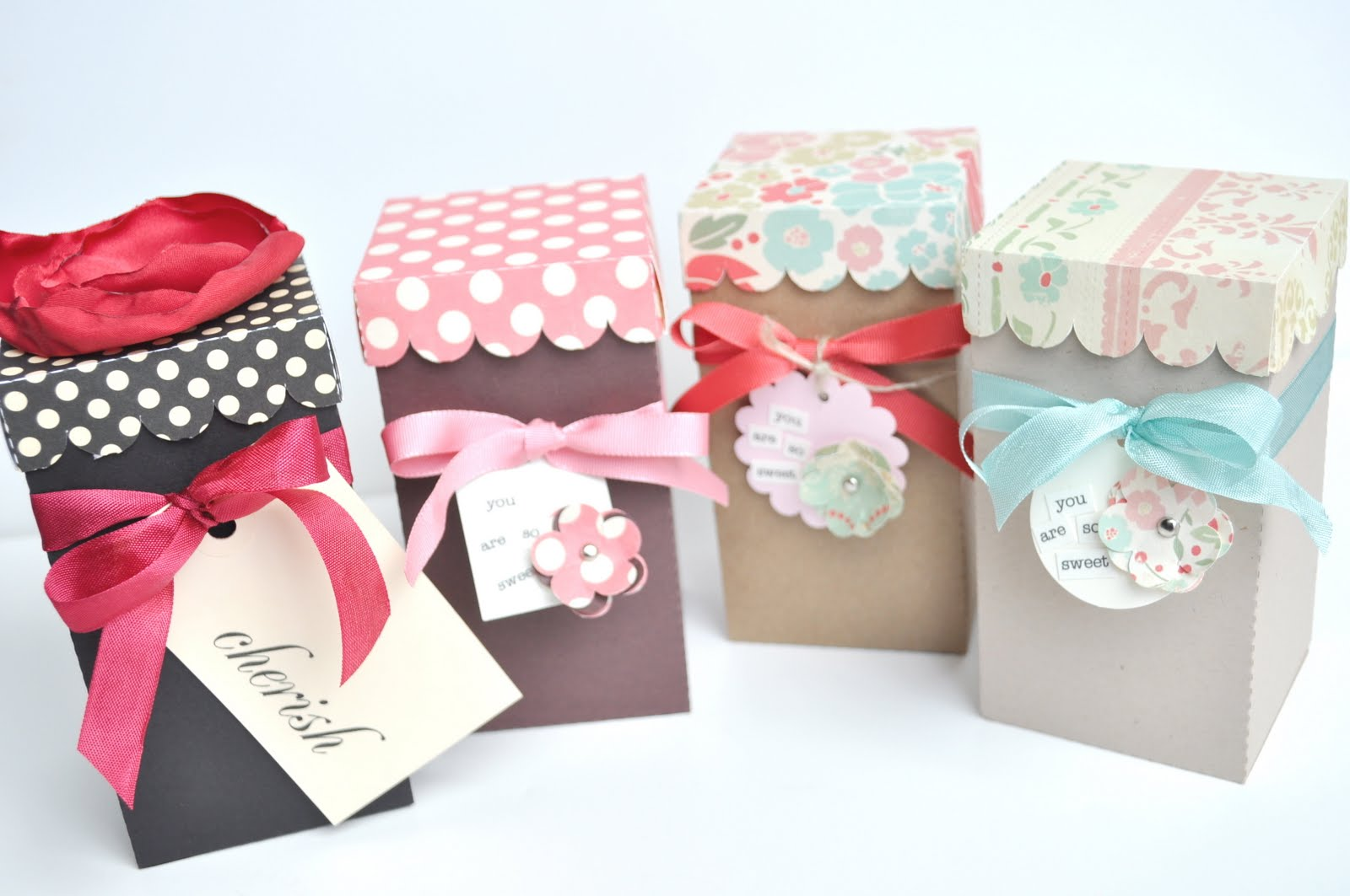 scalloped lid treat boxes the new thank you card