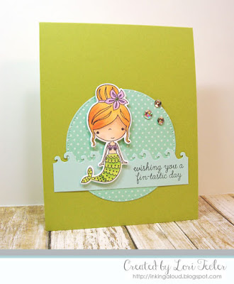 Wishing You a Fintastic Day card-designed by Lori Tecler/Inking Aloud-stamps from Reverse Confetti
