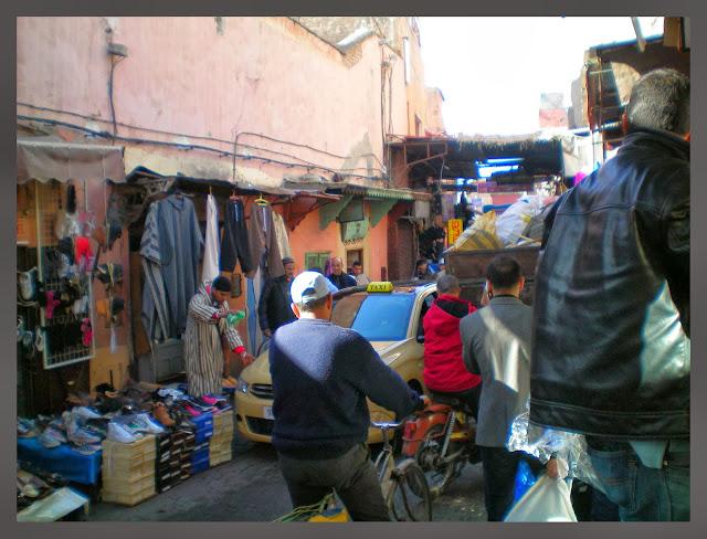 tráfico en Marrakech