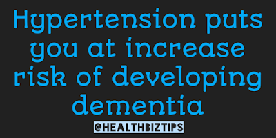 Hypertension puts You at Risk of Dementia