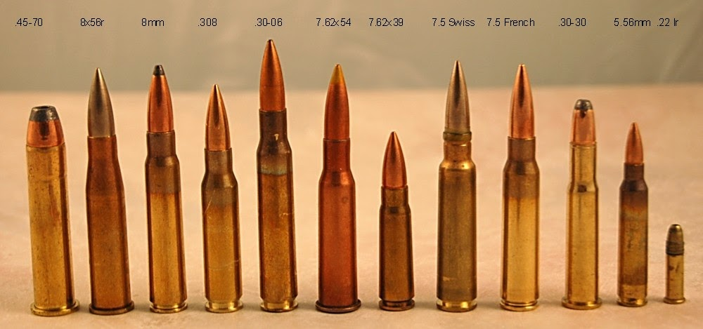 Compare Rifle Bullet Sizes