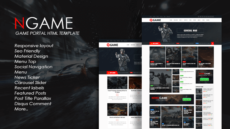 Responsive Newsgame Blogger Template