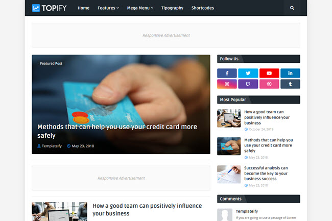 [Free Download] Topify - Responsive Blogger Template