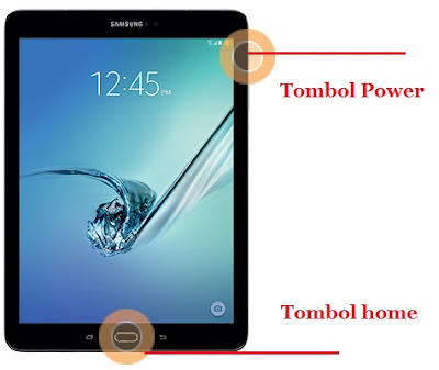Cara Screenshot di Tablet Samsung Galaxy Tab S2 9.7