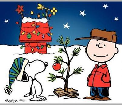Charlie and Snoopy decorate the tree in A Charlie Brown Christmas 1965 animatedfilmreviews.blogspot.com
