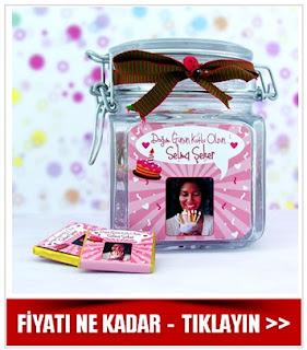 Kadınlar İçin Çikolatalı Doğum Günü Kavanozu
