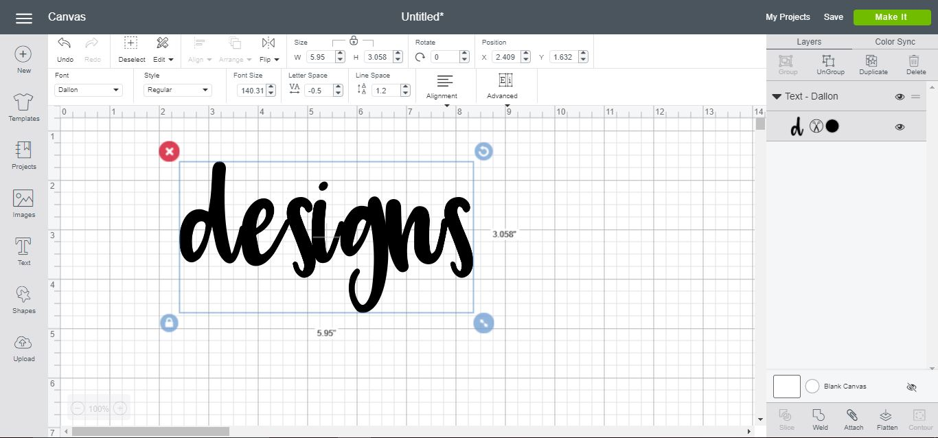 How to create a text shadow in cricut design space | Design