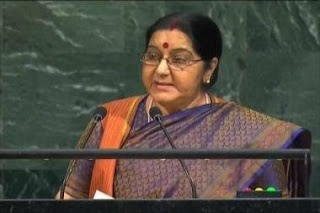 Sushma Swaraj at UN: We Made IIT, Pakistan Made LeT. We Made IIM, They Made JeM