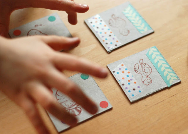 DIY kids réaliser un memory home made