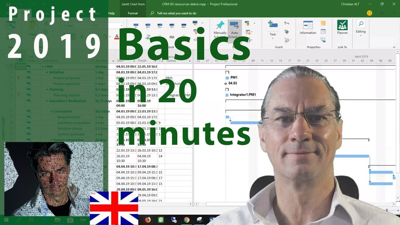Learn The  Basics of MS Project 2019 in 20 Minutes