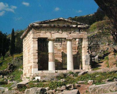 tesoro de los atenienses en delfos